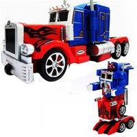 アクションフィギュア玩具rcロボット車ビッグサイズワン鍵変換音声ウォーキングusb充電� cトラック