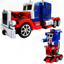 ФОТО Action Figure Toy  RC Robot Car Big Size One Key Transformation Voice Walking USB Charger  Rc Truck