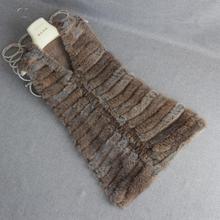 HSPL Knitted Fur Vest 2019 Real Rabbit Women Gilet Female Waistcoat Lady Real Fur Gilet Colete