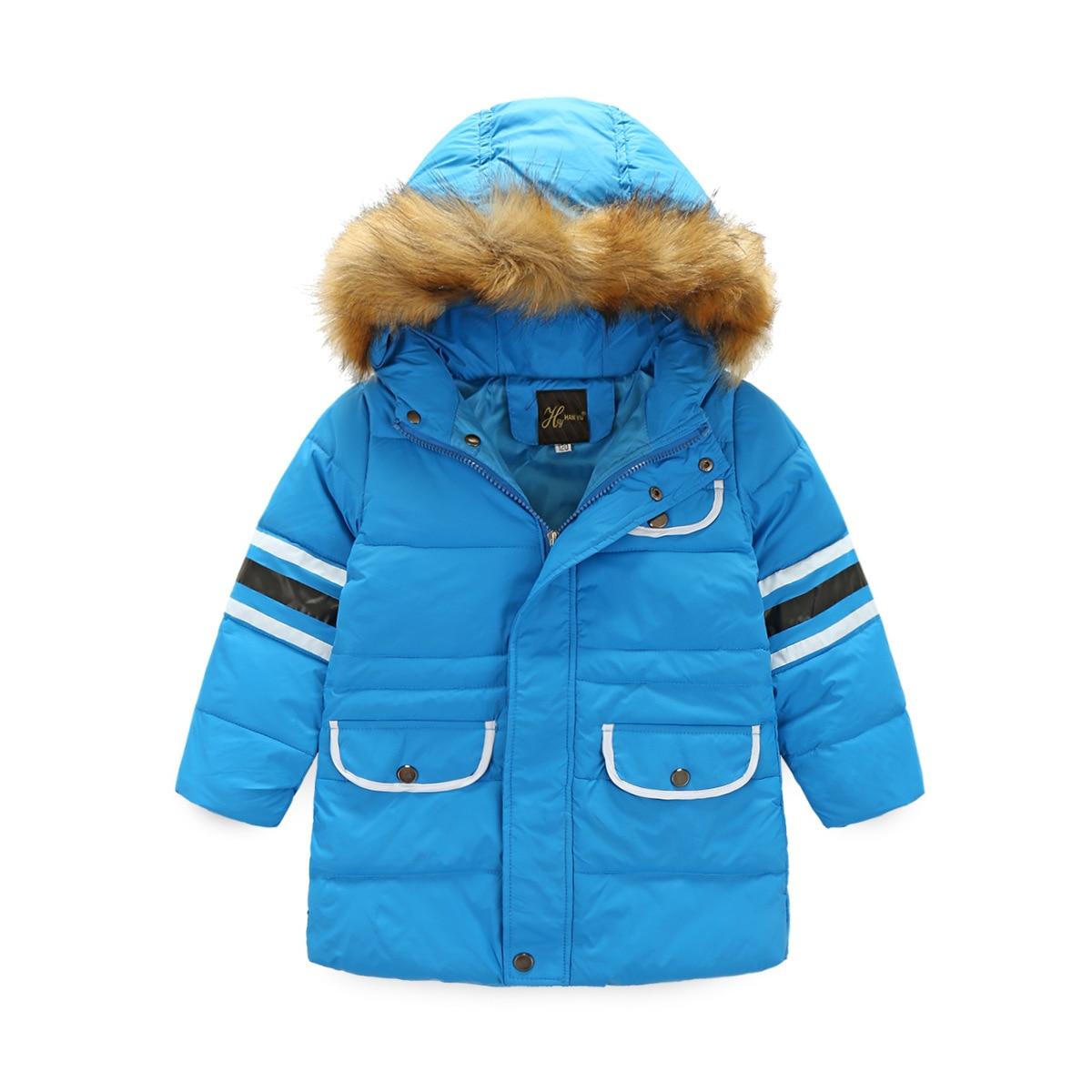 Moda Boys Kabanlar Sıcak Palto Kızlar uzun Giyim Kış Aşağı Yastıklı Ceketler Casual Parkas Kapşonlu Kalınlaşmış Çocuklar Giyim