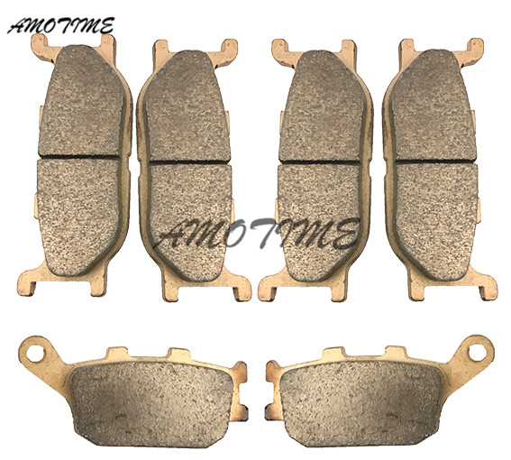 Motorcycle Parts Copper Based Sintered Motor Front & Rear Brake Pads For Yamaha FZ6 2004-2007 05 06 FZ6-FAZER motorcycle parts copper based sintered motor front
