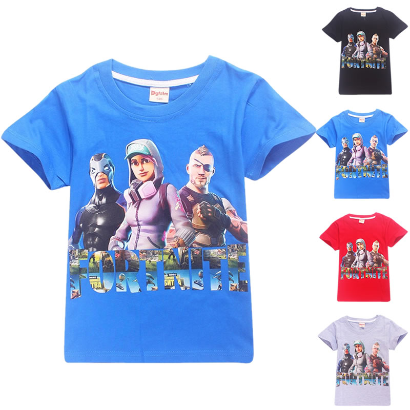 Fortnite Big Boy Tshirt Teenage Boys Sports T Shirt 2018 Summer Casual Tops Kids Trousers for Girl Clothes Age 10 12 14 16 Year