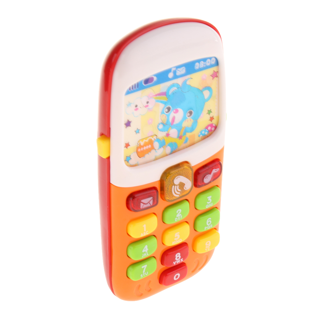 Baby Learning Musical Cellphone Mobile Phone Educational Toy With Lights Sound Learning Education Mobile Phone Musical Playing