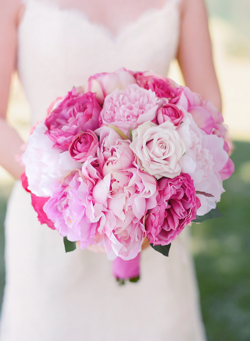 Iffo new handmade peony artificial bride bouquet pink hot pink wedding decoration fake flowers european 1 bouquet artificial flowers vivid peony fake leaf home decoration party mightylinksfo