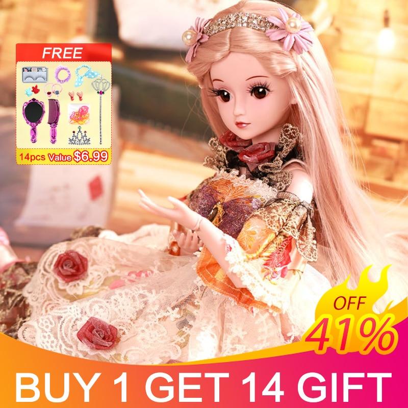 Ucanan BJD muñecas con 19 juntas de bolas 23,6 pulgadas ropa zapatos peluca maquillaje para niñas regalo y muñecas colección SD muñeca-in Muñecas from Juguetes y pasatiempos    1