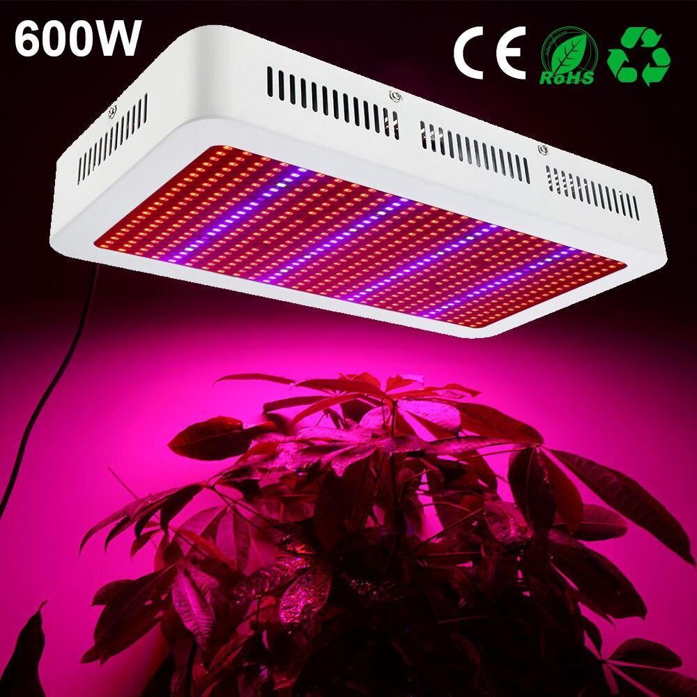 Полный спектр 600 Вт светодио дный светать красный + синий + белый + UV + IR AC85 ~ 265 В SMD5730 светодио дный растет лампы для цветения растений овощей