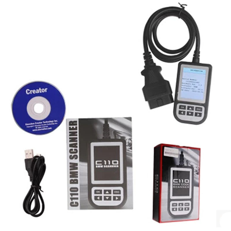 ФОТО Top-Rated Creator C110 V3.9 for BM Code Reader Scanner C110 OBD Scanner C110 OBD2 Code Scanner for Diagnostic Scanner
