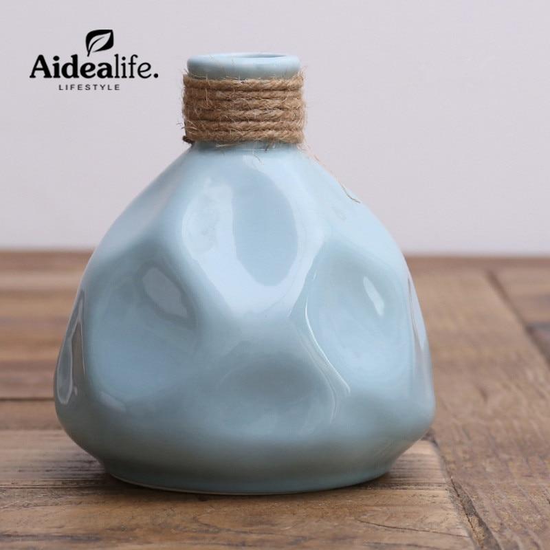 kínai kék és fehér vázák lakberendezési kiegészítők modern - Lakberendezés