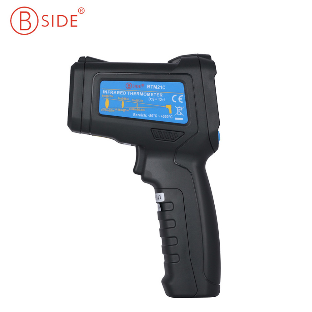 BSIDE BTM21C Digital Non-contact IR Laser Thermometer K-Type -30-500 Degree 2017 bside btm21c infrared thermometer color digital non contact ir laser thermometer k type 30 500 led