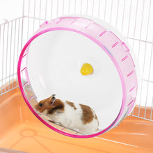 Small Pet Jogging Hamster Mice Gerbil Rat Exercise Wheel Silent PP Run Disc Small Animal Pet Toy Spinner Sports Wheel(China)