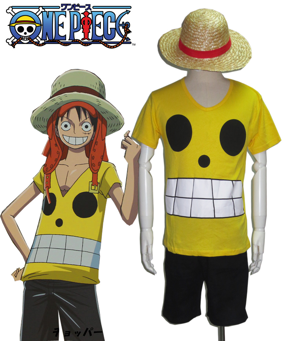 Free Shipping One Piece film Z Monkey D Luffy Summer Uniform Anime Cosplay Costume