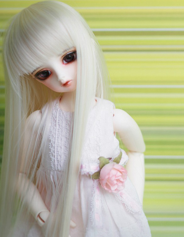 1/6 6-72017 New Arrival Bjd SD Doll Wig High Temperature Straight White Beautiful For BJD Hair Wig 1 3 1 4 1 6 1 8 1 12 bjd wigs fashion light gray fur wig bjd sd short wig for diy dollfie