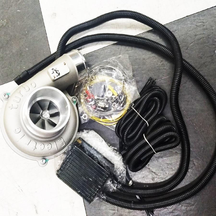Kit de turbocompresseur électrique régulation automatique de la vitesse haut rendement et prise de filtre à Air à économie d'énergie améliorant la vitesse de la voiture