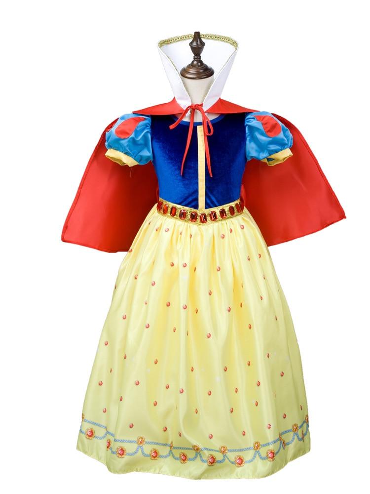 ФОТО Fashion top quality kids-party-dresses 6 layers cotton lining princess snow white halloween costume