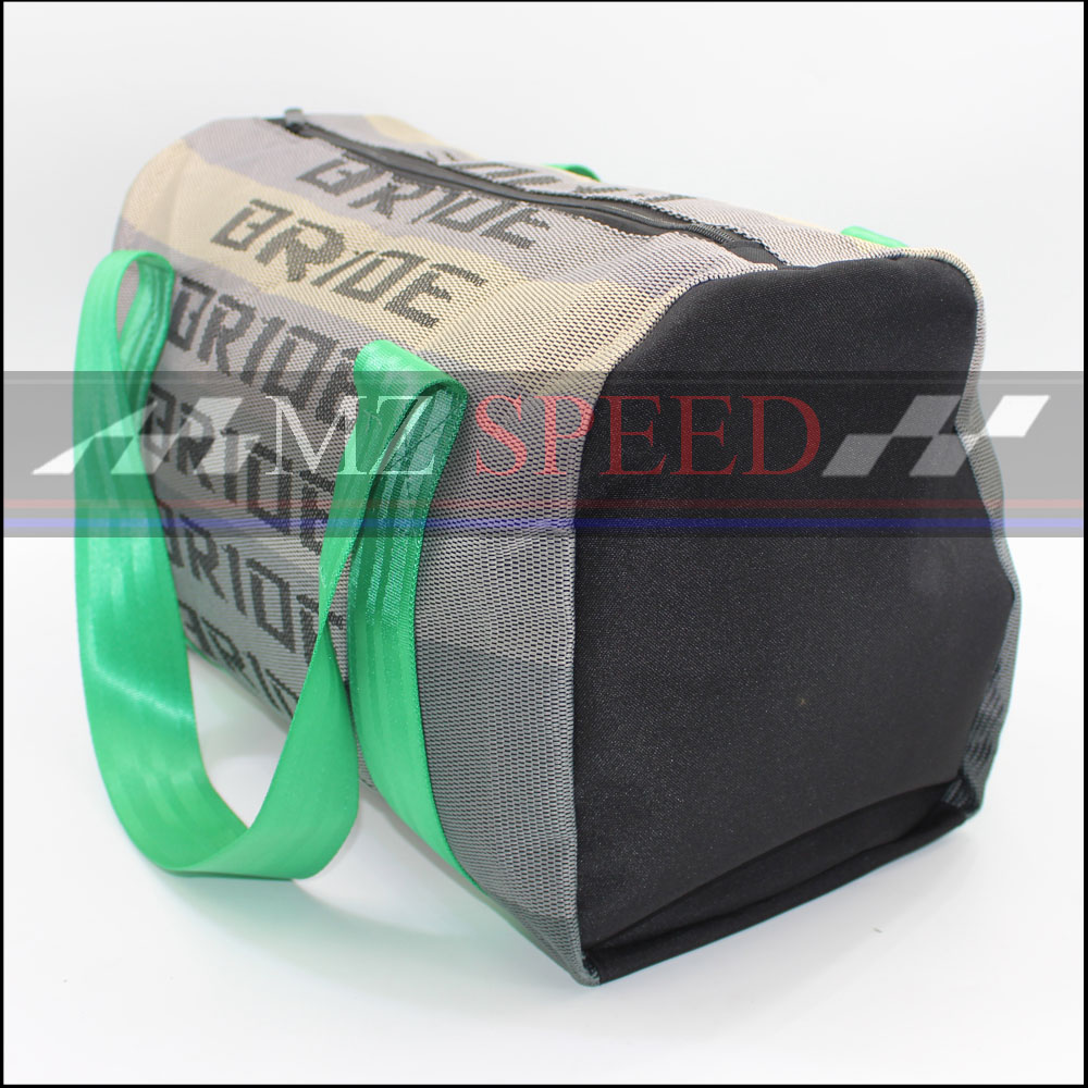 JDM Style Bride Racing Handbag Messager Bags Traveling Bag With Racing Harness Straps Black green blue