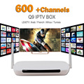 2016 Caixa de Tv Android Media Player Q9 DDR3 1G/8G Wifi 1 ano Assinatura Iptv Iptv Conta Leadtv Europa Céu Canais de IPTV Árabe