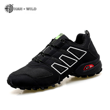 Fashion Casual Shoe For Men Leather Breathable Mesh Lace Up Rubber Men's Sneakers Mens Black Shoes