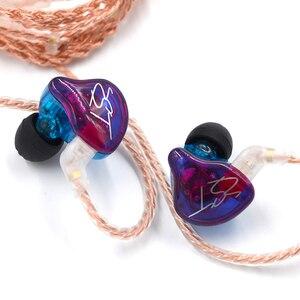 Image 5 - Original KZ ZST coloré BA + DD dans loreille écouteur hybride casque HIFI basse suppression de bruit écouteurs avec micro remplacé BT câble
