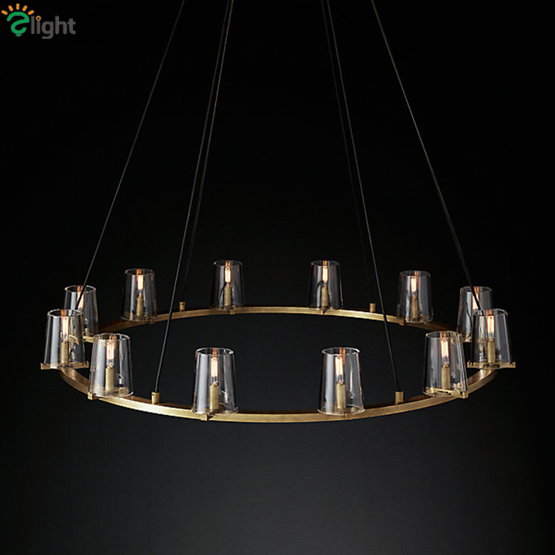 Retro American Loft RH Living Room Chandelier Lustre E14 Bulbs Pendant Chandlier Lighting Indoor Lighting Fixtures chandlier