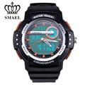 SMAEL Marca Relógios para Homens Relógio de Pulso do Esporte Dual Time Exibição Homens Relógio LED Relógio Digital masculino relogios reloj hombreWS1503