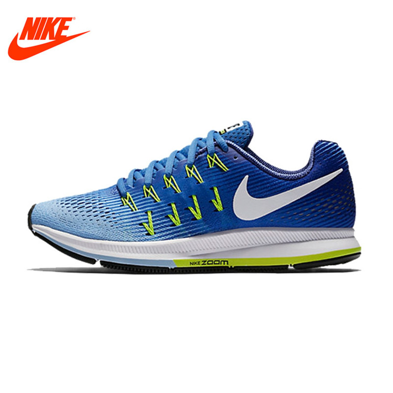 NIKE Original Summer Breathable AIR ZOOM PEGASUS 33 Women's Running Shoes Sneakers Outdoor Walking jogging Sneakers leather center console armrest cover lid fit for audi a4 b6 b7 2002 2003 2004 2005 2006 2007