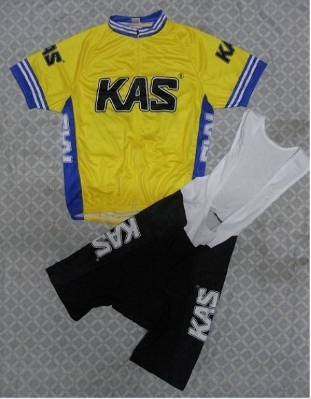 2014 KAS TEAM YELLOW Men s Cycling Jersey Short Sleeve Bicycle Clothing With Bib Shorts Quick