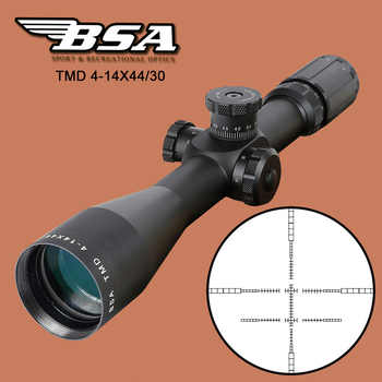 BSA TMD 4-14X44 FFP Hunting Riflescope First Focal Plane Glass Mil Dot Reticle Tactical Optics Sight with Windage Elevation Lock - DISCOUNT ITEM  30% OFF All Category