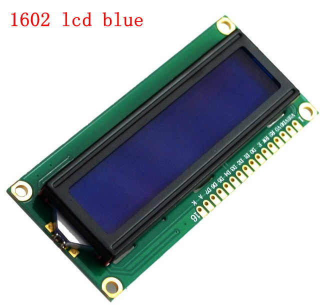 3.3V 5V 1602 16x2 LCD Display Module HD44780 drive Yellow or blue screen IIC adapter for SPI or paraller 51 STM MCU UNO project
