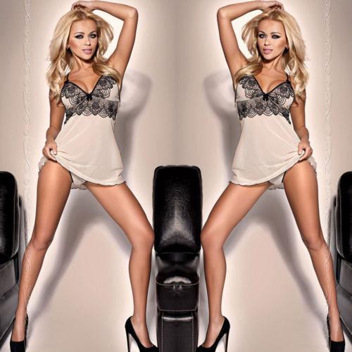 Women Lingerie Lace Dress Babydoll Women Underwear Nightwear Sleepwear Plus Size S-2XL
