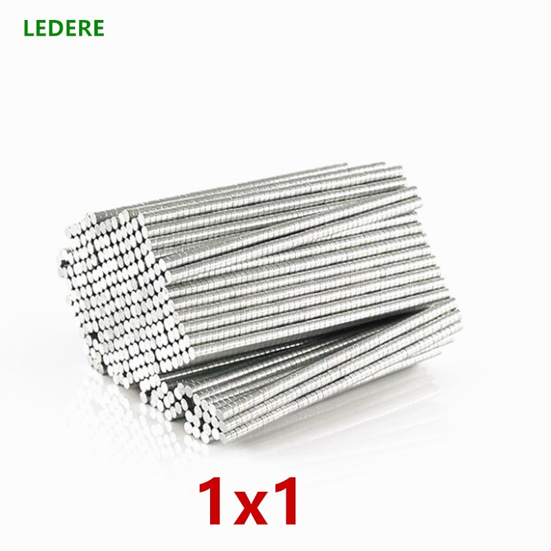 2000-5000 pcs 1*1mm Forte Aimants Ronds Dia 1x1 Néodyme Rare Earth Aimant 1*1mm 1x1mm Mince tranche Petit aimant