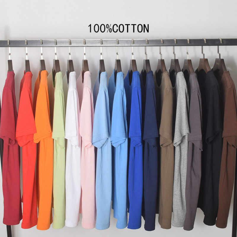 100% 綿 2019 新しい無地 Tシャツメンズ黒と白の Tシャツ夏スケートボード Tシャツスケート Tシャツトップス 15 色
