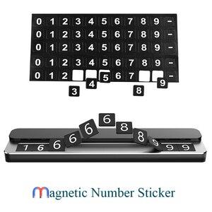 Image 5 - Tarjeta de Metal para estacionamiento temporal de coche, soporte de número de teléfono, placa de número de teléfono móvil, tarjeta de estacionamiento automático en las pegatinas de Diseño del coche