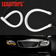 1pcs 45cm Universal Flexible DRL Dual Color  Car LED Daytime Running Light  With Turning Singnal light For Hond/VOLVO/BMW/JEEP