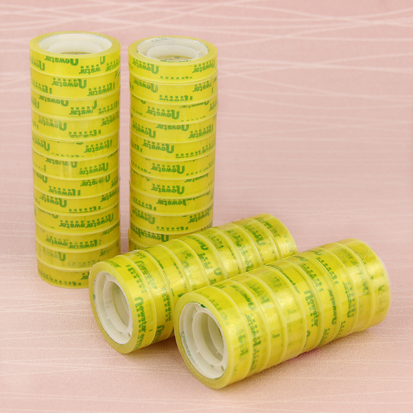 12PCS/Lot Office Transparent Tape Students Small Adhesive Tape Packaging Supplies