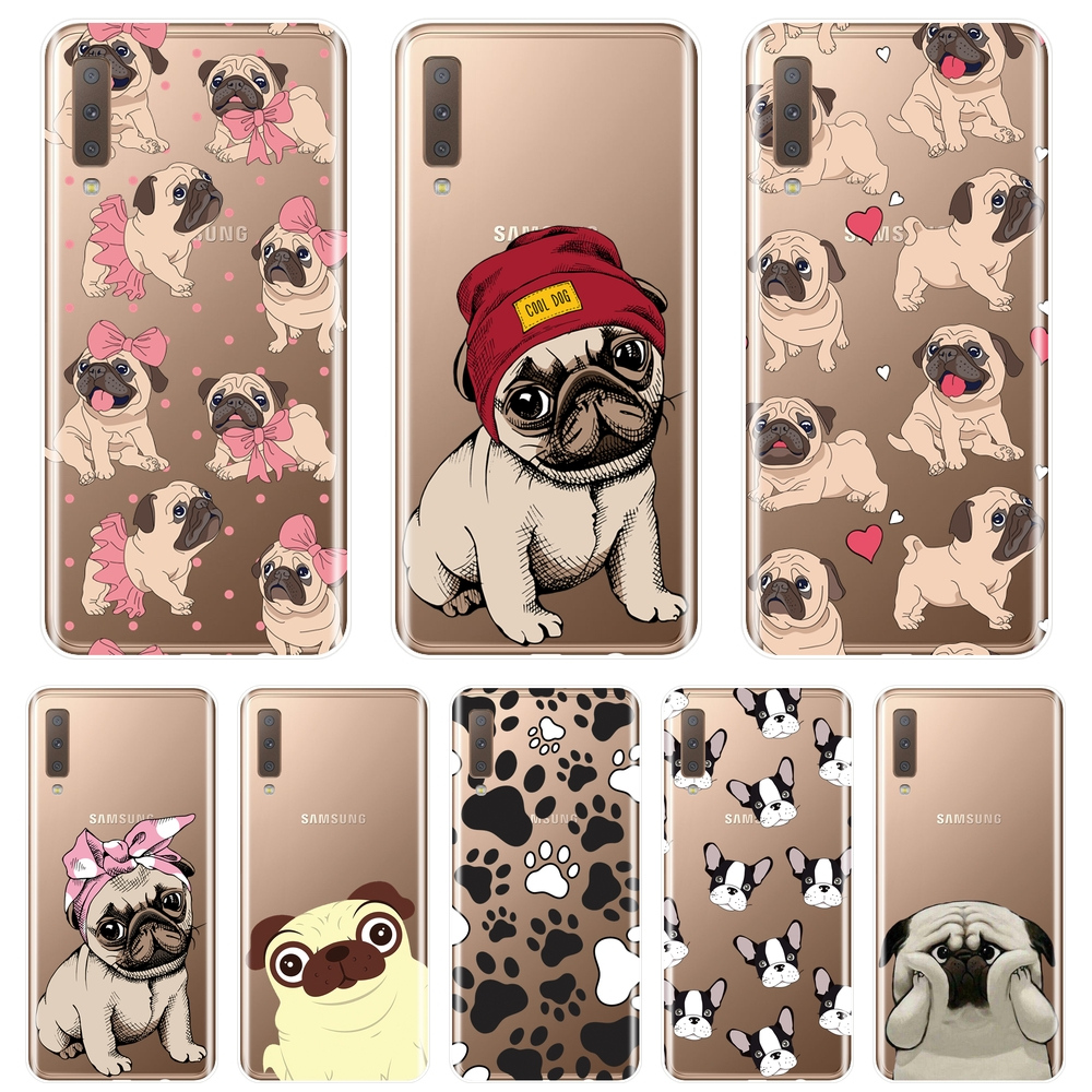Back Cover For <font><b>Samsung</b></font> <font><b>Galaxy</b></font> A6 A8 Plus 2018 A5 A7 Silicone Soft Pug French Bulldog <font><b>Phone</b></font> <font><b>Case</b></font> For <font><b>Samsung</b></font> <font><b>A3</b></font> A5 A7 2016 <font><b>2017</b></font> image