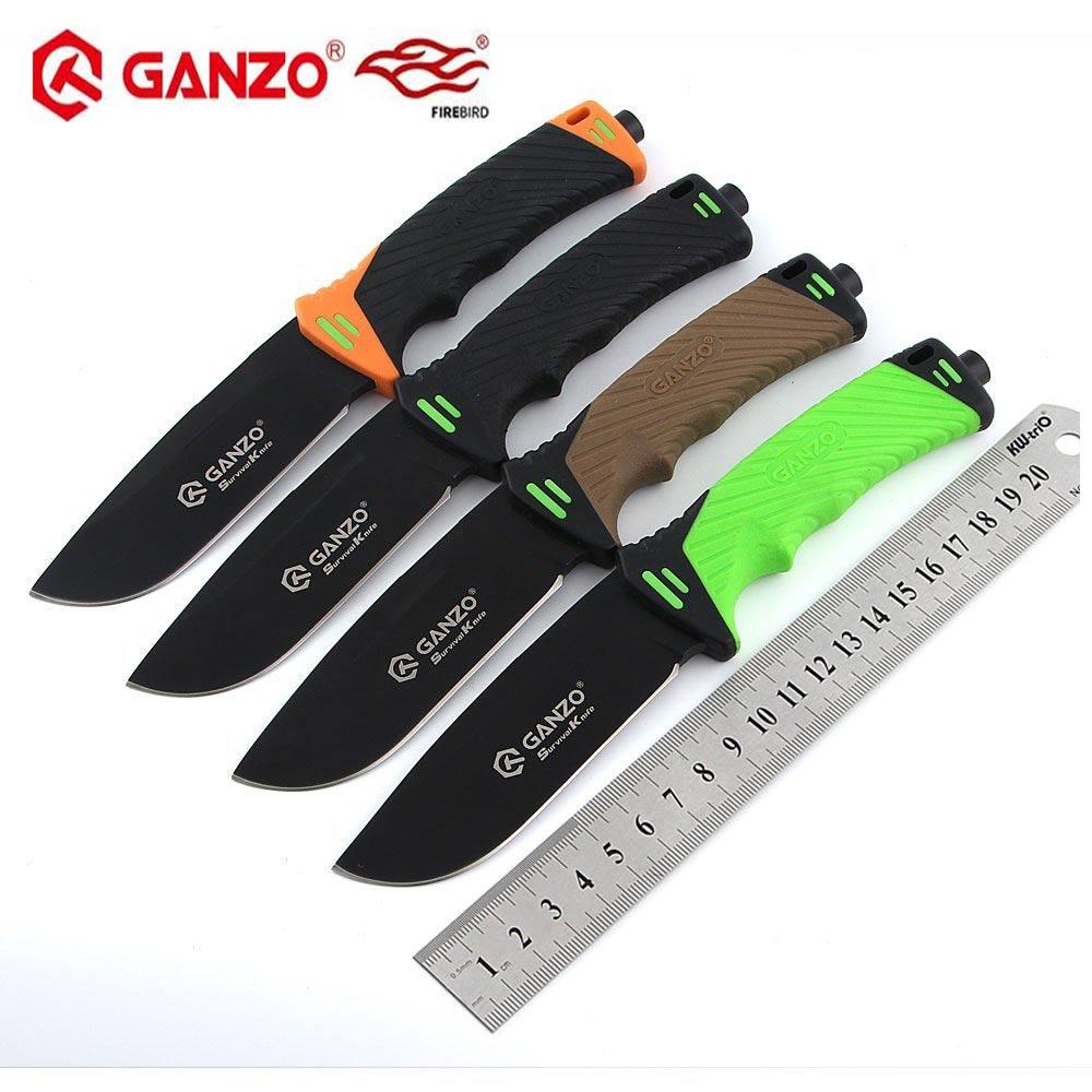 Firebird Ganzo G8012 7cr17mov lame ABS poignée chasse couteau fixe couteau de survie Camping outil extérieur EDC outil tactique