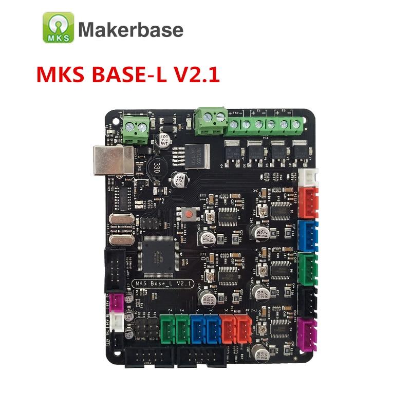 3D printer electronics card MKS BASE L V2.1 integrated motherboard compatible Mega 2560 RAMPS 1.4 control board RepRap 16u2 3d printer motherboard mks base v1 3 one board ramps1 4 reprap compatible