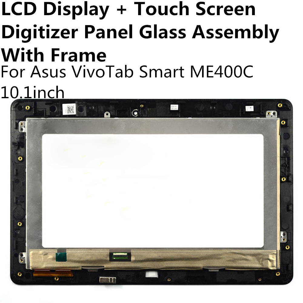 LCD Display + Touch Screen Digitizer Panel Glass Lens Assembly With Frame For Asus VivoTab Smart ME400C Replacement Repair Part