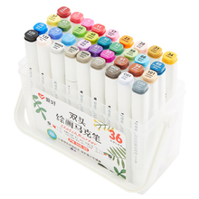 Dual-side touch writing 12/18/24/36 Color Art Marker pens Set for Sketch Drawing Manga Animation Alcohol Based Brush A6556