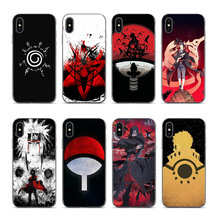 OUTMIX Naruto Shippuden Uchiha Itachi Clan Silicone Phone Case Coque Cover For iPhone 7 7plus 8 8plus X XS XR max 55s 6 6S 6plus
