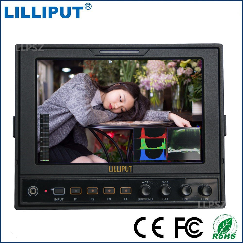 Lilliput 662/S 3G SDI HDMI Conversion 7 IPS LED Monitor 1280*800 HD Camera Field Monitor Battery Plate Sun Cover Shoe Mount
