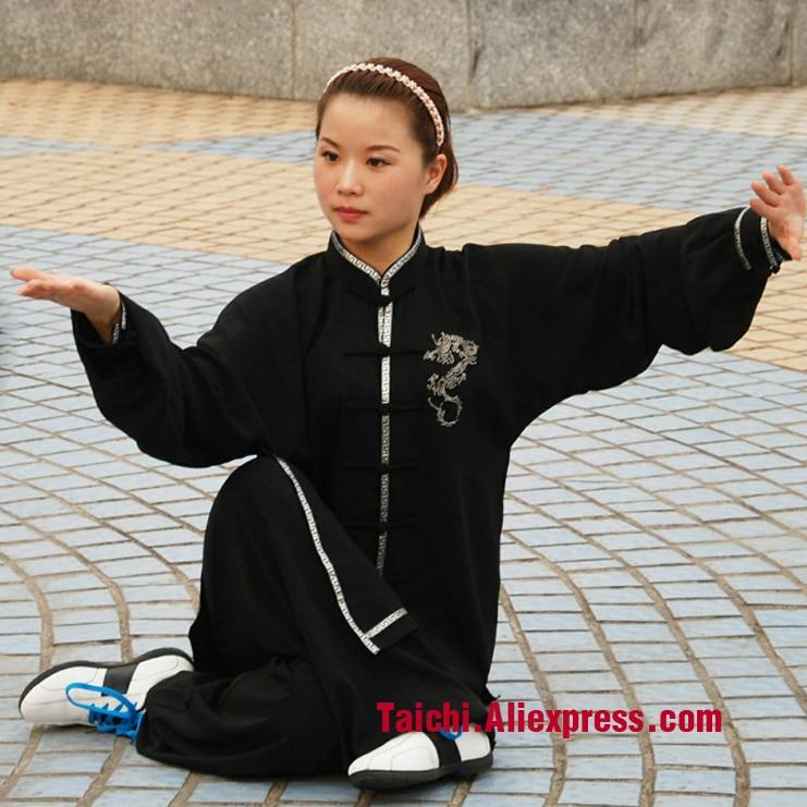 dragon tai chi clothing for men and women Kung Fu performance clothing Wushu Clothing martial art