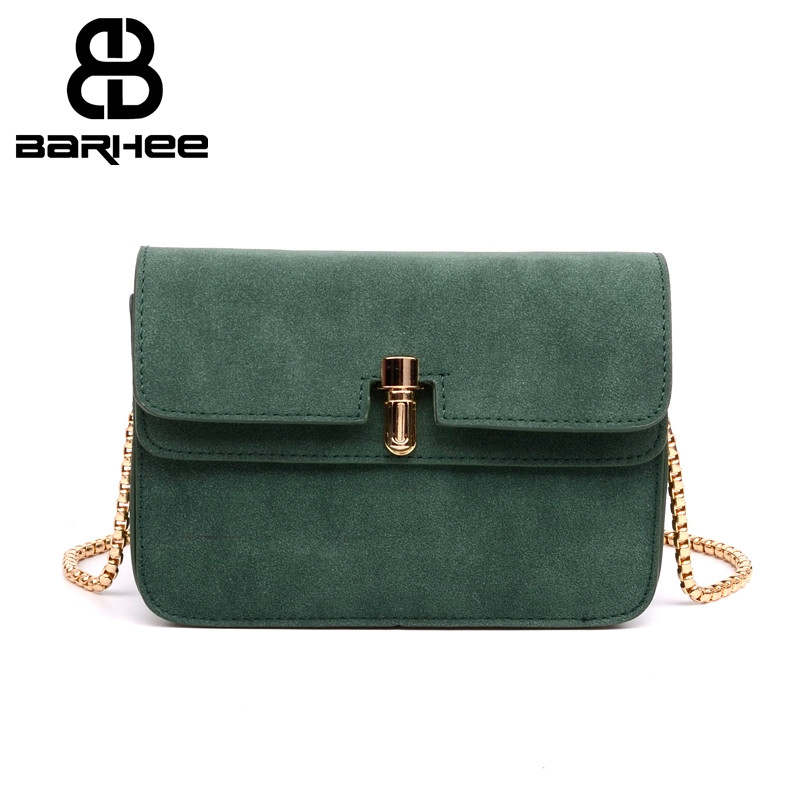 2017 Chain Handbag Nubuck Casual Small Women Messenger Bag Retro Faux Suede Mini Crossbody Bags for Ladies Hand Bags sac a main korean vintage matter leather shell bags for women famous brand shoulder bag ladies faux suede handbag arrow crossbody bag small