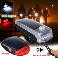 INBIKE 1200 Lumens Bike Bicycle Solar LED Front Headlight Tail Rear Light Rechargeable