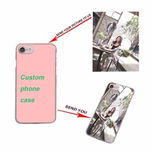 DIY Case Customized Personalised Photo Cover transparent clear hard phone case for Apple iPhone8 X 6 6S 6SPlus 7 7Plus 5s SE 5C(China)