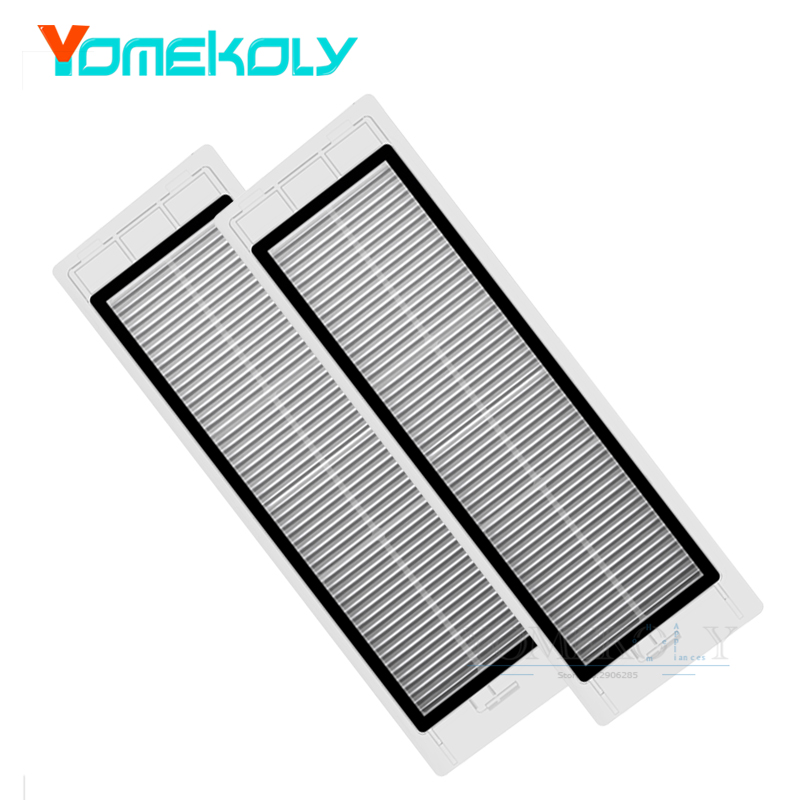 2PCS HEPA Filter for Xiaomi Mi Robot Vacuum Cleaner Parts Robotic Cleaning Filter Replacement Kits 2pcs robotic vacuum cleaner robotic parts pack hepa filter for xiaomi mi robot filters cleaner accessories