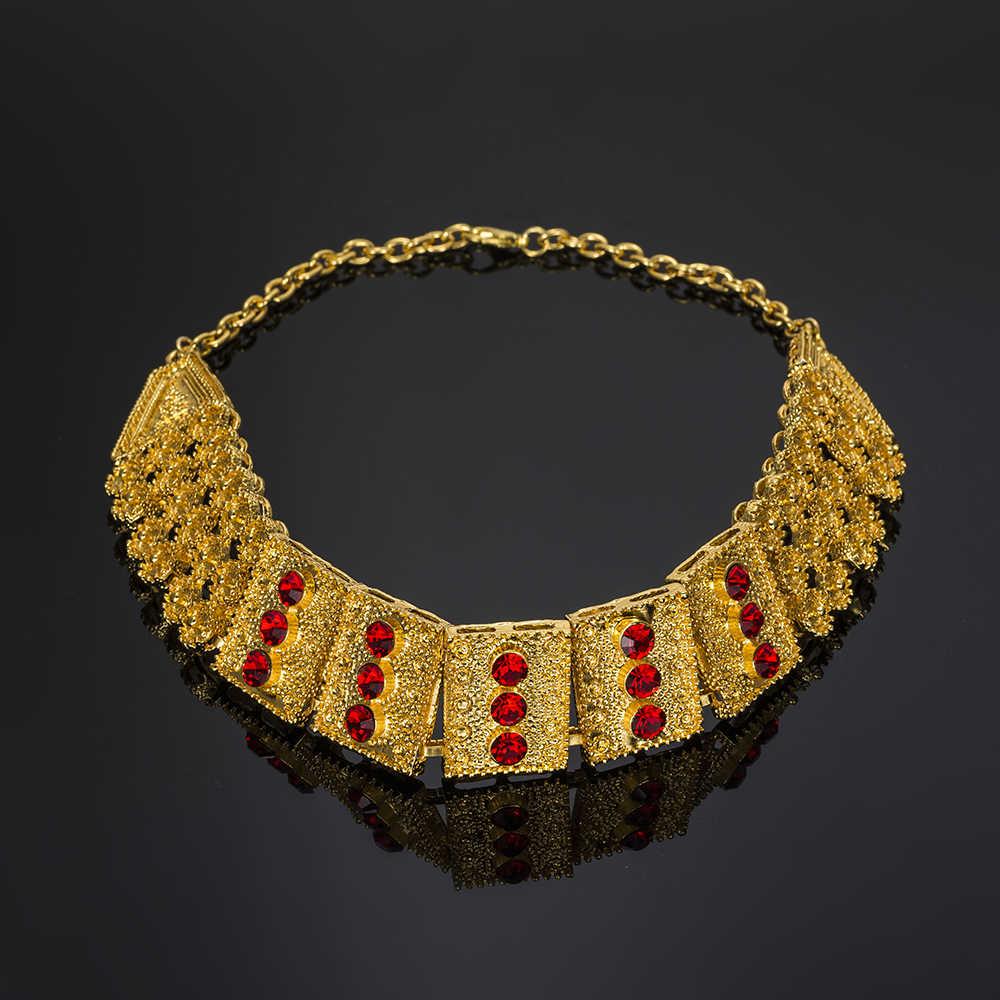 MUKUN ювелирные изделия из Турции большой Нигерия Для Женщин Комплект украшений из Дубая комплект ювелирных украшений золотистого цвета свадебное платье в африканском стиле бусины аксессуары дизайн