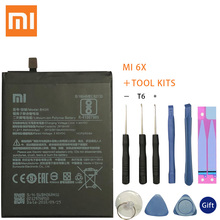 Xiao Mi Original Phone Battery BN36 for Xiaomi Mi 6X Mi6X Mi A2 MiA2 2910mAh High Capacity Replacement Battery Free Tools xiao mi original phone battery bn36 for xiaomi mi 6x mi6x mi a2 mia2 2910mah high capacity replacement battery free tools us $8