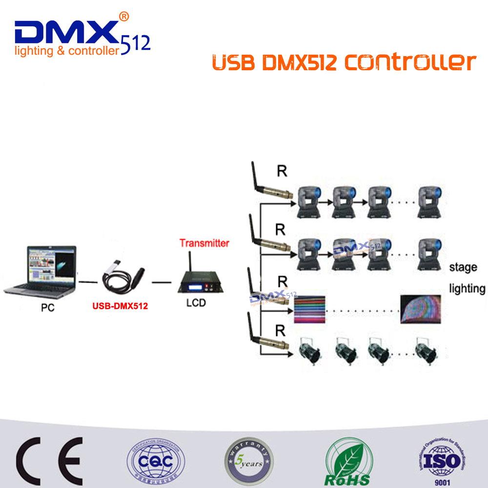 DHL Free shipping USB DMX512 Controller LED Stage Light Computer Dimmer Strong Function With Simple Operation USB DMX Controller dmx512 digital display 24ch dmx address controller dc5v 24v each ch max 3a 8 groups rgb controller