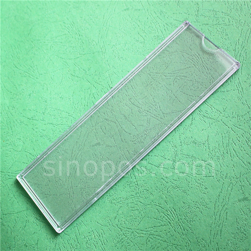 Plastic Molded Name Plate Sleeve Sign Pouch Holder Desk Wall Door